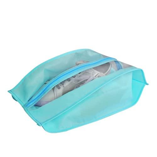 HNZNCY Bolsa de zapatos impermeable Bolsa de almacenamiento de zapatos portátil Bolsa de zapatilla de deporte bolsillo hogar organizador a prueba de polvo zapatero (azul cielo)