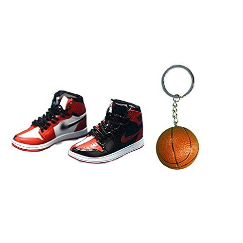ANCHANG A&J llavero 3D zapatillas modelo colgante bolsa colgante coche decoración llavero niños / niña / pareja regalos de cumpleaños 5 cm * 1,8 cm * 2 cm estilo-34