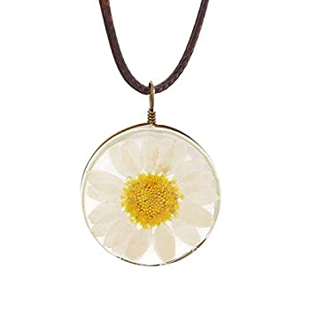 daisy necklace for women