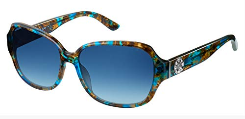 Juicy Couture - Juicy 591/S 0S9W Blue Brown Rectangle Sunglasses (Juicy Couture Rhinestone Heart)