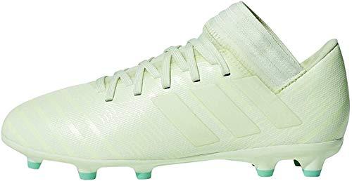 Adidas Nemeziz 17.3 FG J, Botas de fútbol Unisex niño, Blanco Blanco Aerver Aerver Vealre 000, 36 2/3 EU