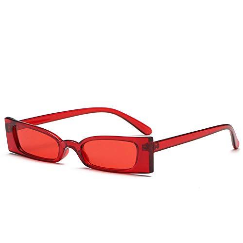 Gafas De Sol Hombre Mujeres Ciclismo Gafas De Sol Rectangulares Vintage para Mujer Gafas De Sol Retro Retro Negro Rojo Rosa Gafas-Rojo