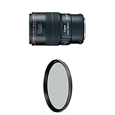 Canon EF 100mm f/2.8L IS USM Macro Lens for Canon Digital SLR Cameras w/ B+W 67mm XS-Pro HTC Kaesemann Circular Polarizer from