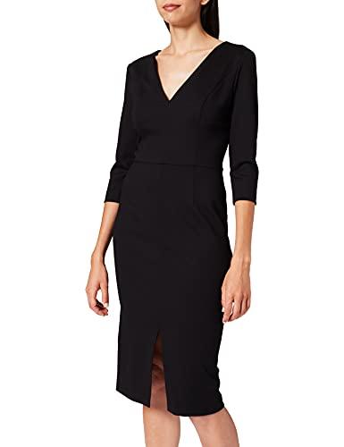 HUGO Kalayla Vestido Formal, Negro1, 46 para Mujer