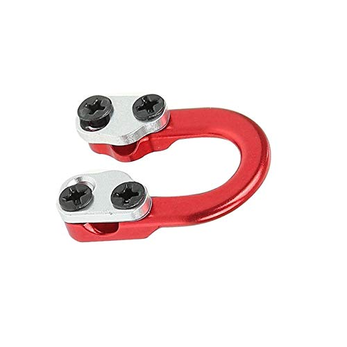 Archery D Loop Metal D Ring Buckle Rope Ulimate Hunting D-Loop Archery Bow and Arrow Shooting Parts (Red)
