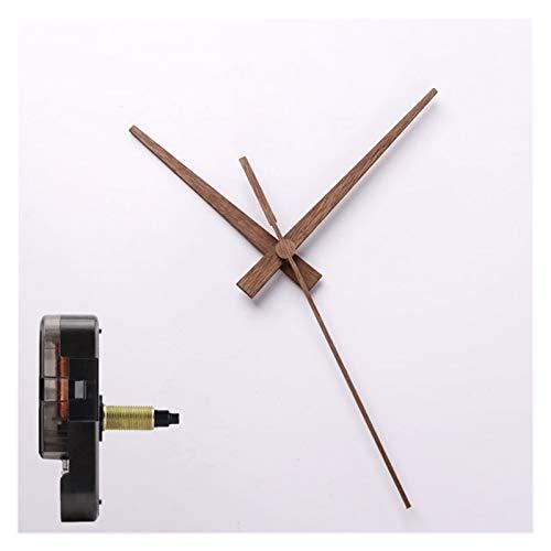 Ssbhjxb DIY Reloj de Pared Creativo Correa de Mano de Madera Movimiento de Reloj silencioso Negra de Nuez Reloj de Cuarzo Reloj de Repuesto Accesorios Despertador (Color : F, Size : 23.5mm 16mm)
