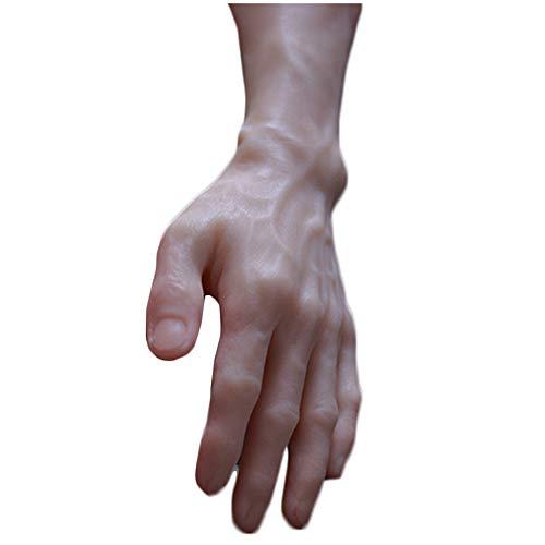 WJH Simulation Männliches Handmodell Mannequin Dummy Hände Einbau-Skelett-Joint Adjustable Entwurf für Ring-Handschuh-Armband Skizze Nail Anzeige,Left