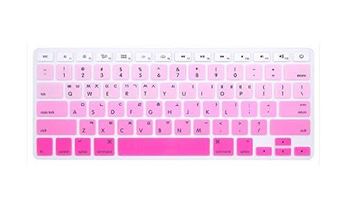 TOIT - Funda de teclado coreano para Mac Book Air 13 Pro15 pulgadas A1466 A1278 A1502 A1398 Retina Funda teclado para ordenador portátil película color para teclado Gradient powder