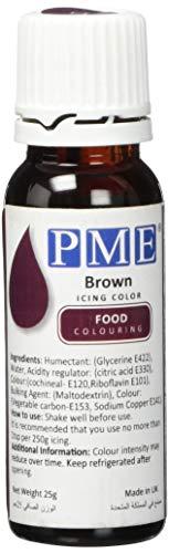 PME 100% natürliche Lebensmittelfarbe - Braun, 25 g