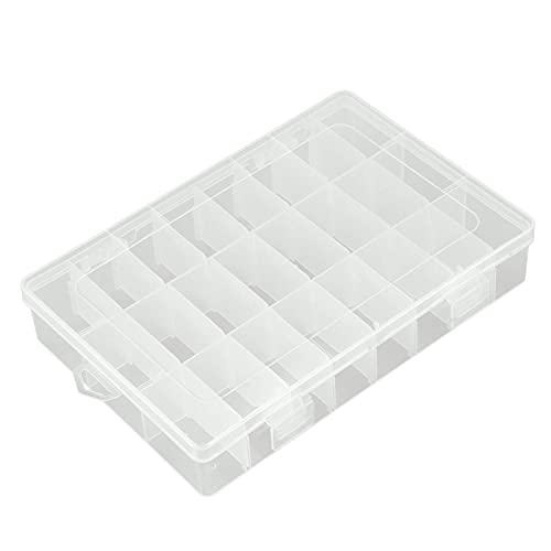 LAMZH Piezas electrónicas de plástico desmontable 24Slots caja de almacenamiento 19.5x13cm