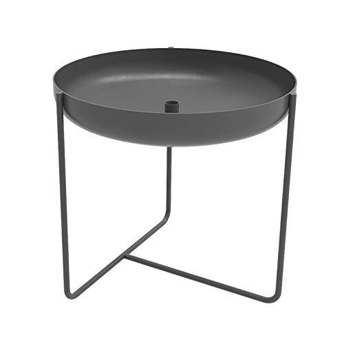 Konstantin Slawinski Plantbowl 500 / XL Design Pflanzschale Blumenkübel für aussen/Metall grau / 50x50x47cm