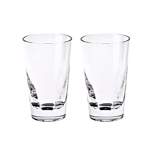 CRISTALICA Wasserglas Longdrinkglas Trinkglas 2er Set 220ml Transparent Kristallglas