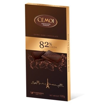 Cémoi - Schokoladentafel 'Zartbitter' mit 82% Kakao (100g)