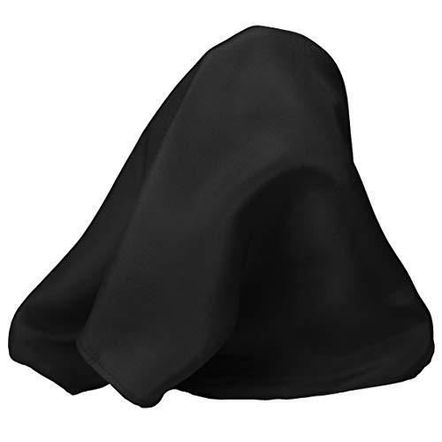 Fine Black 100% Silk Pocket Square for Men by Royal Silk - Full-Sized 17