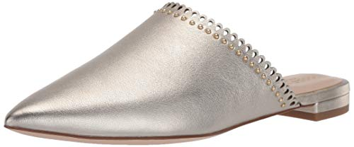 Cole Haan Women's Raelyn Mule Shoe Loafer, Soft Gold Metallic Tumbled Leather, 6.5 B US