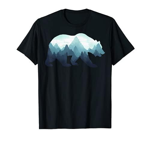 Bear Double Exposure Surreal Wildlife Animal T-Shirt