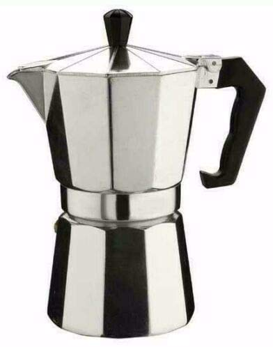 Small Espresso Coffee Maker Aluminum Italian Type Moka Pot Stove Home Office Use on Gas or Electric Stove 1 Cup