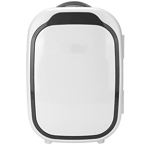Refrigerador de 6 Litros, Mini Refrigerador, Dormitorio, Refrigerador PortáTil de 220 V-240 V, Tanque de Almacenamiento Integrado de Bajo Consumo de EnergíA con Compartimento ExtraíBle(negro)