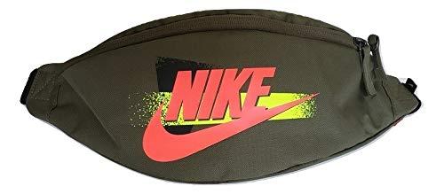 Nike Sport Waist Pack, Multicolour (Medium Olive/Black/Bright Crimson), 20 centimeters