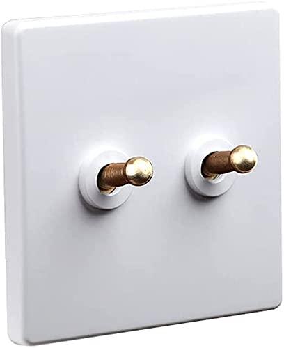 Ploutne Interruptor/Blanco 304 Panel de Acero Inoxidable 1-3 Gang Dual Control Interruptor de Palanca/Diseño Moderno Toggle Light Wall Light Interruptor/Rastro Palanca Interruptor de Palanca par