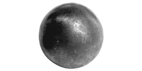Bola maciza de hierro rodado / superficie ligeramente desigual (imagen)