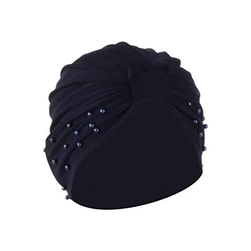 SuperSU Frauen Mode Nagel Perle Indien Hut, Krebs Chemo Kopf Bandana Muslim Abaya Dubai Hijab Islamisches Kopftuch