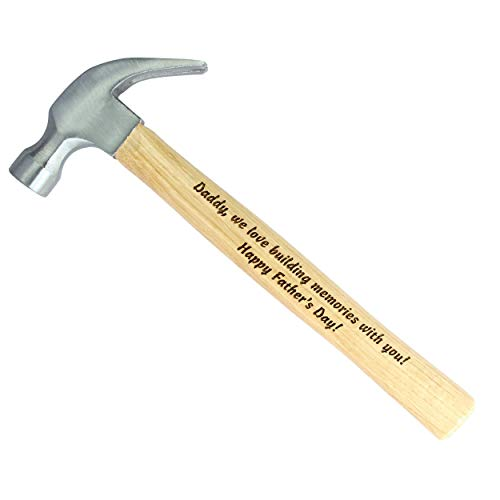 Personalized Laser Engraved Wood Handle Hammer, Valentines...