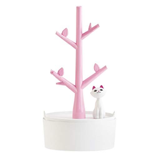 luoem Árbol joyas organizador con gatos para pendientes/Collares/Pulseras