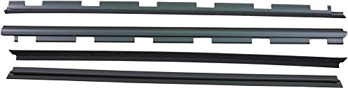APDTY 134001 Weatherstrip Front Left & Right Inner & Outer Rubber Dew Wipe Set Fits 1999-2000 Cadillac Escalade 1988-2002 Chevrolet or GMC Pickup 1992-1999 Blazer GMC Jimmy Tahoe GMC Yukon