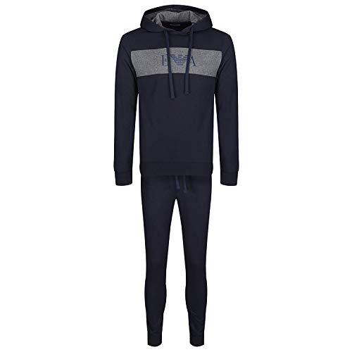Emporio Armani Sudadera Completa Traje Deportivo Hombre Loungewear artículo 111882 9A566 Hooded Sweater + Trousers