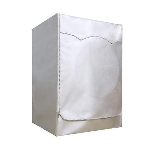 CHENXIN Cubierta para lavadora, tela Oxford plateada impermeable, tapa de lavadora, protección solar, tela gruesa, diseño de cremallera para fácil aplicación