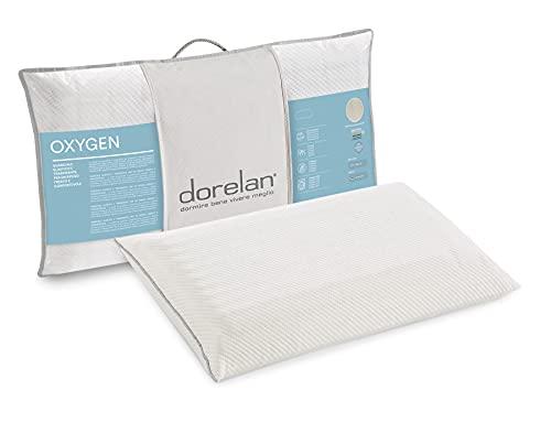 Dorelan Cuscino Oxygen Low (40x70, 11 cm di altezza) in Myform Air, comfort ideale e buon sostegno, sagoma ellittica, sostegno medium