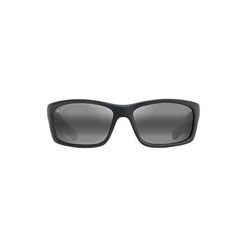 Maui Jim 766-02MD Gafas, negro mate-blanco-azul, 61/17/127 para Hombre