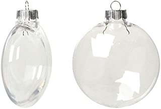 clear glass disc ornaments 100mm