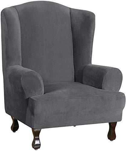 Orumrud Samt Sesselbezug 1 Stücke,Sessel-Überwürfe Ohrensessel Überzug Bezug Sesselhusse Elastisch Stretch Husse für Ohrensessel,Sofabezug Elastischer Sofaüberwurf,für Relaxsessel Fernsehsessel