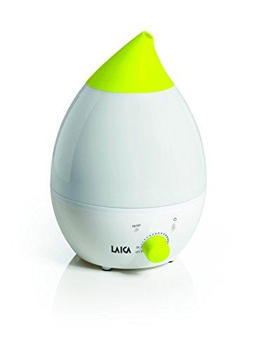 Humidificador de ultrasonido para niños Laica HI3012 tiene posibilidad de poner la luz en 7 colores, muy silencioso, flujo de vapor ajustable, se pueden poner esencias.