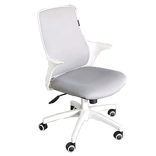 Stuhl Home Office Schreibtischstuhl Moderne Einfachheit Studienstuhl Eingekreistes Gestell Atmungsaktives Netz Komfortable Bewegungsmangel Lagergewicht 200 kg schwarz Weiß (Farbe: Weiß)