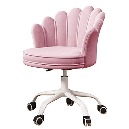 N&O Renovierungshaus Moderner Home-Office-Computer-Schreibtisch-Stuhl mit Rädern Bürostuhl Komfortabler Dreh-Waschtisch-Stuhl mit mittlerer Rückenlehne