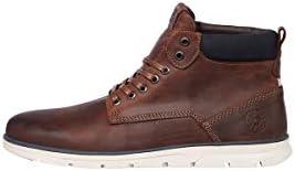 JACK & JONES JRTUBAR LEATHER BRANDY heren sneakers.