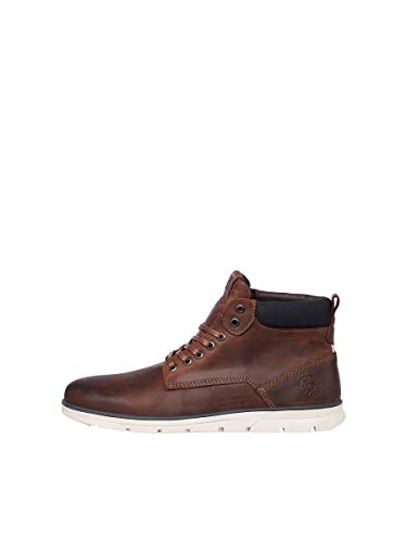 JACK & JONES Male Lederstiefel Cognac 44Brandy Brown