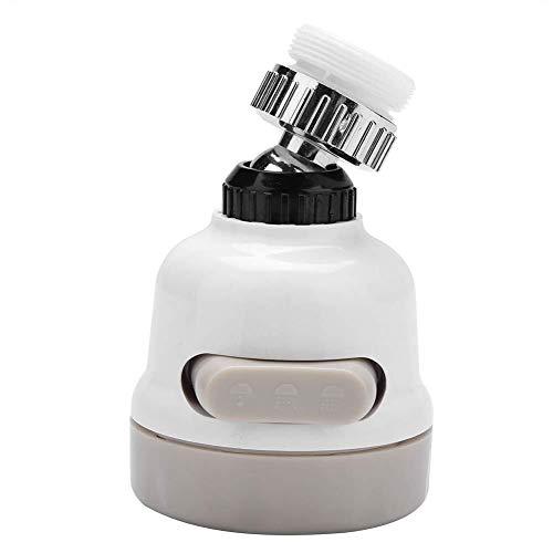 360 Grados;Gorra giratoria Faucet Spray Head Tap Aireador Splash Grifo Booster Cocina Baño Filtro Boquilla con 3 Modos Ajuste