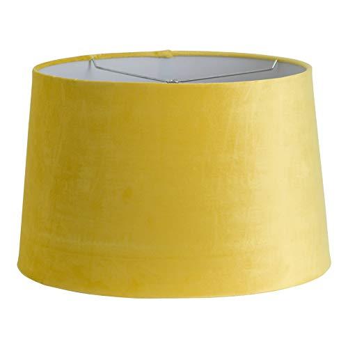 40cm grote mosterd geel fluweel lampenkap lichte schaduw - Harp & Finial Fitting