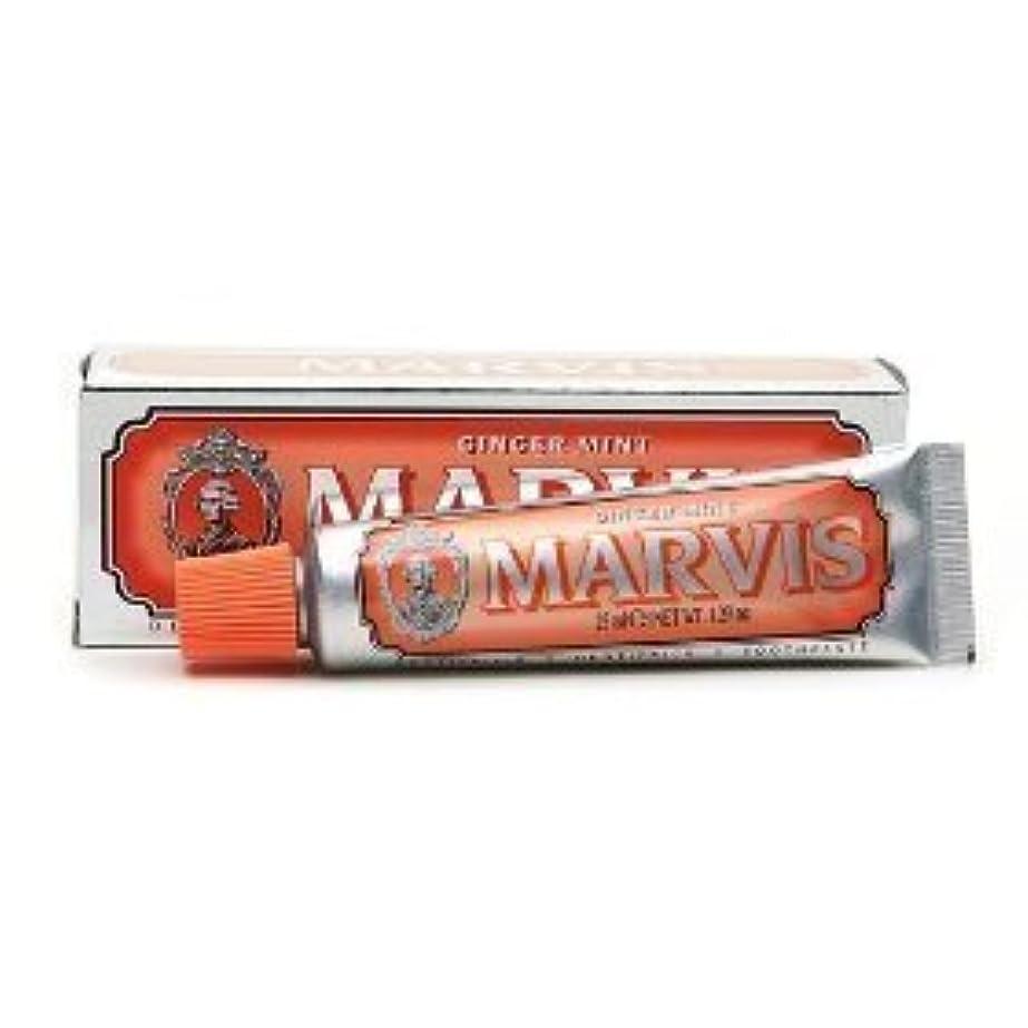 明らか名前凍結Marvis Toothpaste Ginger Mint Travel Size by Marvis [並行輸入品]