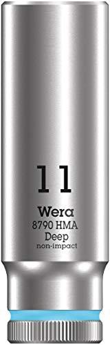 """Wera 05004508001 Llave de Vaso 1/4\"""", Cian, 11.0 mm"""
