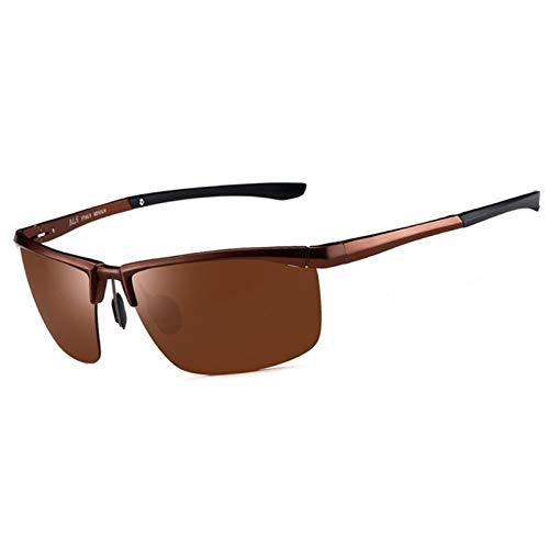 LDH Gafas De Sol Simples, Polarizadas, Espejo De Conducción De Conductores De Alta Definición, Gafas De Pesca De Conducción, Ojos De Borde Grande, Marco Metálico Liviano, UVA UVB-Prueba (Color : C)