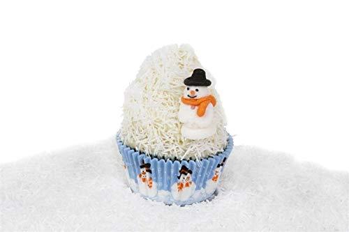 House of Marie papierstrooisel voor cupcakes, cake pops, ijs, muffins en nog veel meer. Strooisel 20 g inhoud kleur wit - GLUTENVRIJ