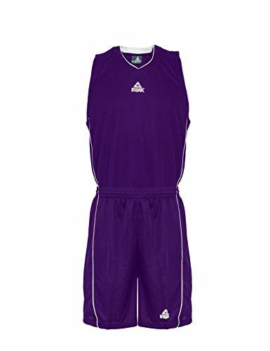 Peak, Divisa Sportiva Uomo, Viola (Purple-White), XXXS