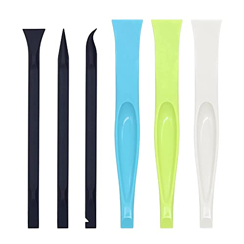 Plastic Scraper Tool, Carbon Fiber Multi-Purpose Scraper, Non-Scratch Cleaning Tool, Lottery Ticket Scratcher Tool, Sticker/Label Remover Tool, Pen Shaped Cleaning Tool for Tight Space/Crevice (6pcs)