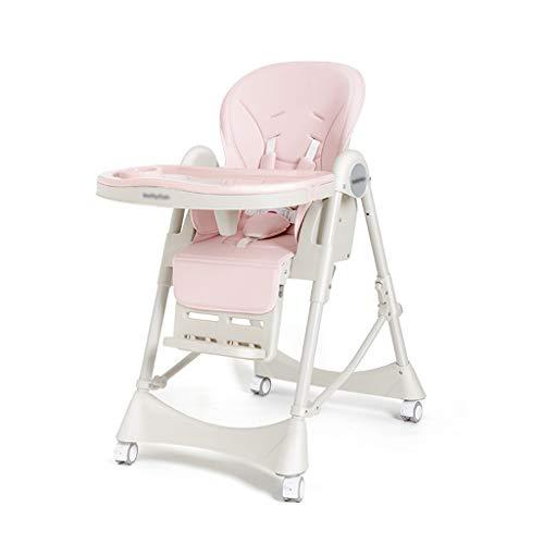 Qujifangedcy Kinderstoel, beweegbare eettafel verstelbaar met speeltafel 6 in 1 multifunctionele kinderstoel, voor thuis, voor 0-4 jaar oude kinderen