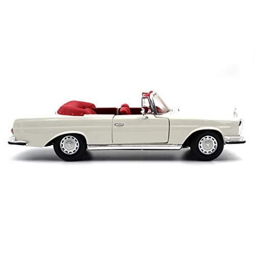 GYZS-TOY 01:18 modèle de Voiture/Compatible avec Mercedes Benz 280SE 1967 / Classic Car Alliage modèle de Voiture (Color : White)